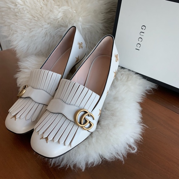 Gucci Shoes - Authentic✨ Gucci Embroidered Leather Mid-Heel Pump